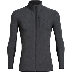Icebreaker Descender LS Zip Jacket Herre Jet Heather/Black